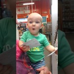 Adorable Little Boy Gets Super Excited While Helping Pick Out Paint Colors at Home Depot