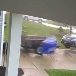 Incredible Home Security Footage of an Upstate New York Tornado Lifting an SUV Off of the Ground