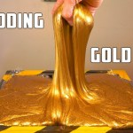 Sending 15 Pounds of Gold Slime Through an Industrial Shredder Is Quite Satisfying to Watch