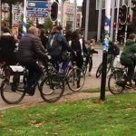 Constructive Behavioral Science Pranksters Solve Chaotic Sidewalk Bicycle Congestion With Duct Tape