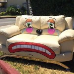 Artist Draws Sad Clown Faces On Random Discarded Objects on Los Angeles Streets