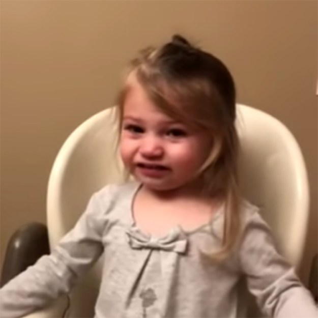 everything-is-better-with-cake A Cute Little Girl Gets Upsets and Then Instantly Feels Better When Offered Cake Random