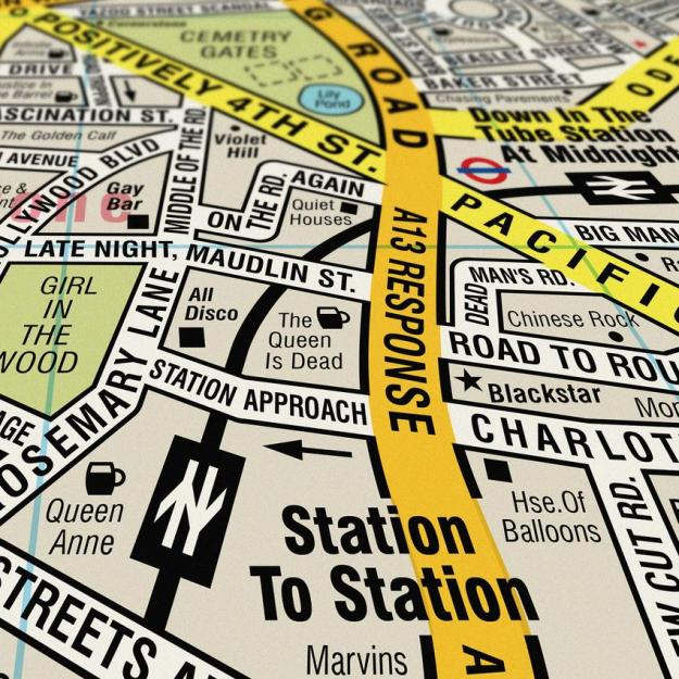 song-map-2 Song Map, An Updated Street Map of London With All the Roads Reimagined With Song Titles Random