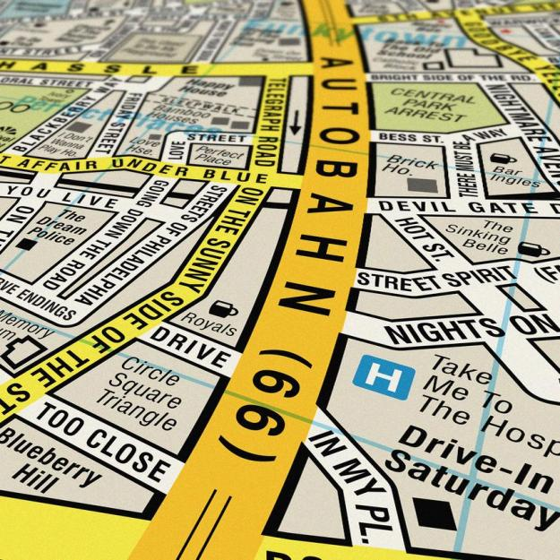 song-map-3 Song Map, An Updated Street Map of London With All the Roads Reimagined With Song Titles Random