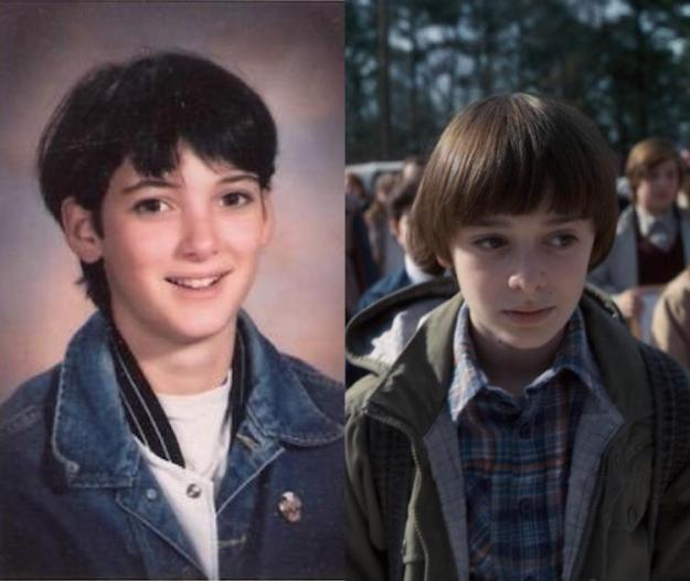 winona-ryder-will-byers A Young Winona Ryder Traveled to the Future to Play the Son of Older Winona Ryder in Stranger Things Random