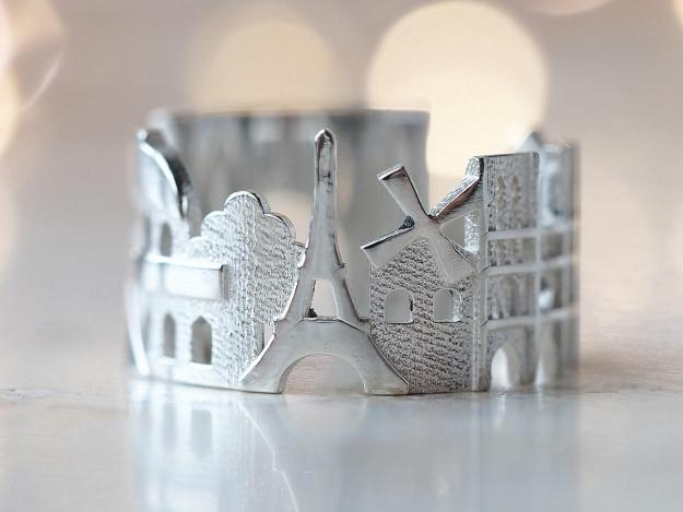 paris-cityscape-ring Stunning Cityscape Rings Featuring Significant Geographic Icons From Cities All Over the World Random