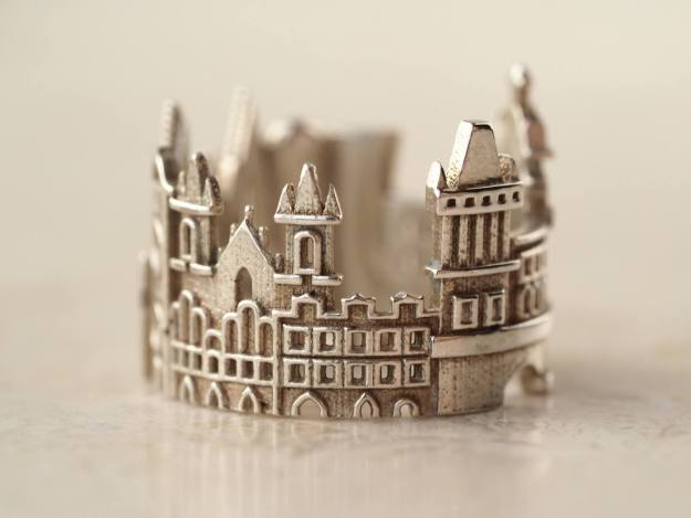 prague-cityscape-ring Stunning Cityscape Rings Featuring Significant Geographic Icons From Cities All Over the World Random