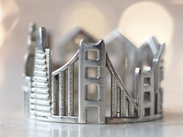 sf-cityscape-ring Stunning Cityscape Rings Featuring Significant Geographic Icons From Cities All Over the World Random