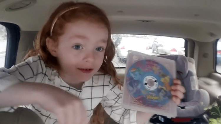cute-little-girl-is-super-excited-about-getting-the-my-little-pony-movie Cute Little Girl Is Super Excited About Getting a DVD of 'My Little Pony: The Movie' Random