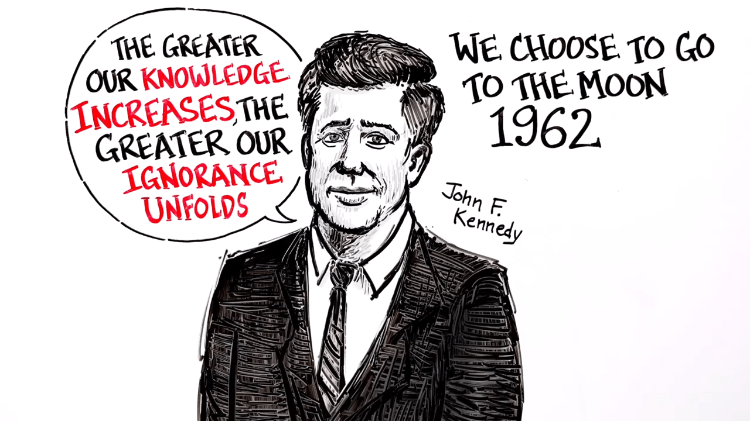 john-f-kennedy-we-choose-to-go-to-the-moon A Brilliant Whiteboard Animation of President John F. Kennedy's Iconically Prescient 1962 Moon Speech Random