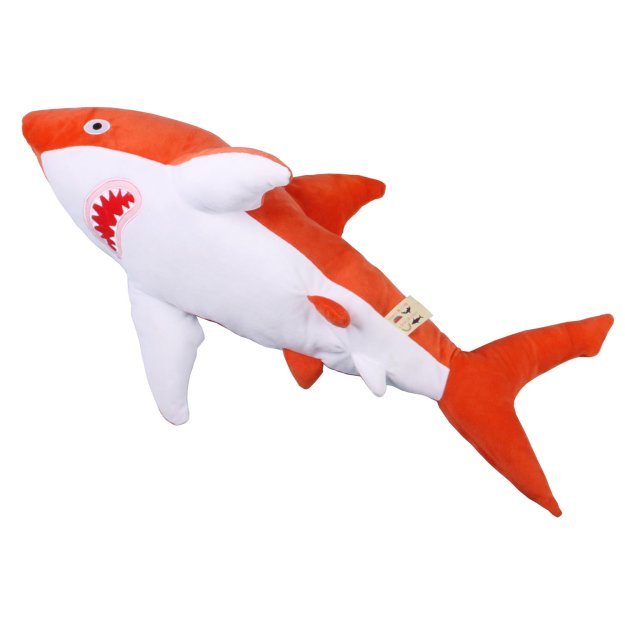 red-shark Soft Huggable Brightly Colored Shark Plushies Random