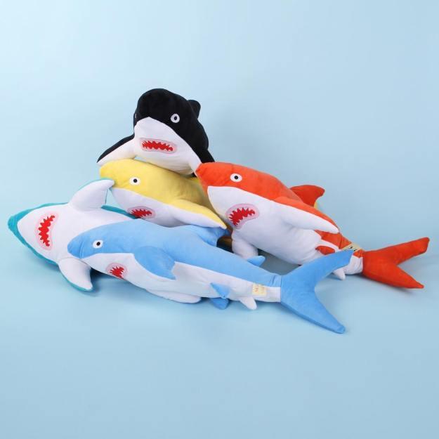 shark-plushies Soft Huggable Brightly Colored Shark Plushies Random