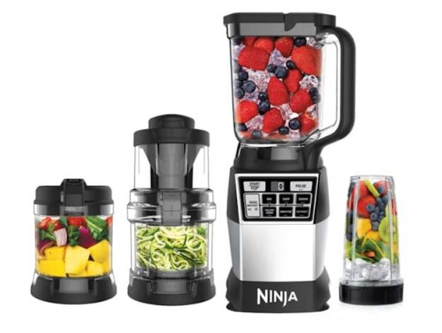 ninja-4-in-1-high-speed-blending1 A Powerful Ninja 4-in-1 Kitchen System That Blends, Chops, Minces, Grinds, Purees and Spiralizes Food Random
