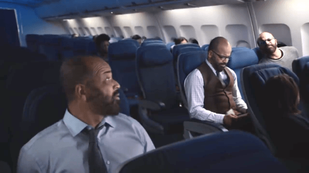 should-i-be-scared Jeffrey Wright Asks 'Should I Be Scared?' to Anxious Versions of Himself on a Bumpy Airplane Ride Random