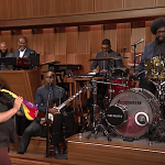 Jack Black Plays His Toy Sax-A-Boom With The Roots After an Elaborate Entrance on The Tonight Show