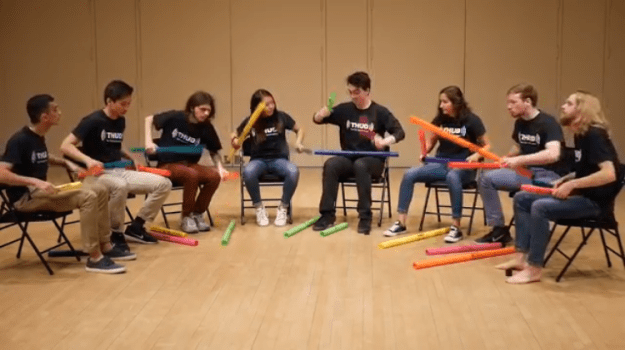 Dont-Stop-Believing-Boomwhackers Students Play a Knee Slapping Cover of the Classic Journey Song 'Don't Stop Believing' on Boomwhackers Random