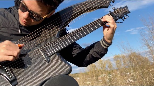 Jamie-Dupuis-Paint-it-Black A Stunning Cover of the Rolling Stones Song 'Paint It Black' Played on a Gorgeous Carbon Fiber Harp Guitar Random