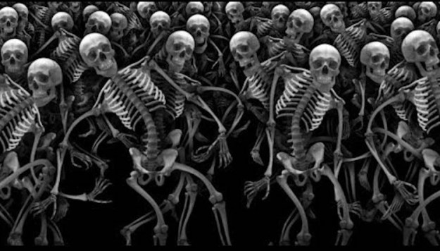 RIP-Halloween-by-Cyriak A Surplus of Silly Skeletons Dance Their Little Hearts Out in an Oddly Cheerful Halloween Video by Cyriak Random