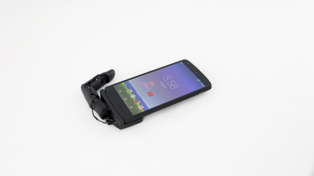flat Mobilimb, An Attachable Articulating Robotic Finger That Greatly Enhances Mobile Device Capabilities Random