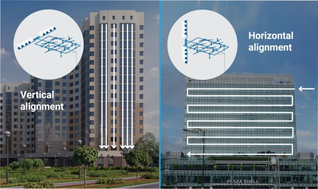 Building-Alignment-Cleaning-Drones Heavy Duty Tethered Cleaning Drones That Safely Wash Windows of High Altitude Skyscrapers Random