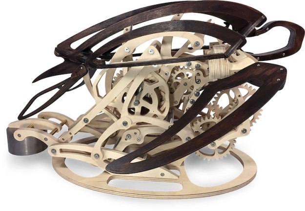 Carapace-Wooden-Kinetic-Sculpture-Sea-Turtle-swimming An Exquisite Wooden Kinetic Sculpture That Mimics the Graceful Movements of a Swimming Sea Turtle Random