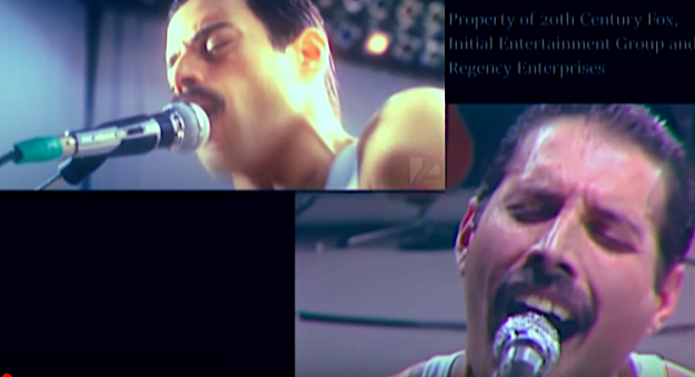 Queen-Live-vs-Bohemian-Rhapsody-Film A Brilliant Comparison of Queen's 1985 'Live Aid' Show With the Staged Remake in 'Bohemian Rhapsody' Random