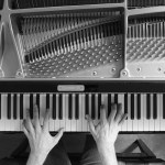 A Haunting Piano Cover of Pink Floyd's 'Comfortably Numb' Captured in Dramatic Black and White Video