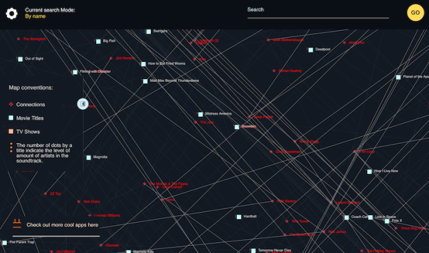 SoundtrackMap SoundtrackMap, An Interactive Visualization Showing the Musical Connections Between Film and Television Random