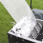 The Incredibly Satisfying Sound of a Giant Roll of Bubble Wrap Winding Through an Industrial Shredder