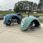 Clever Minibikes Built Out of Welded Fenders From Vintage Volkswagen Beetles