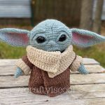 An Adorably Huggable Crocheted Baby Yoda