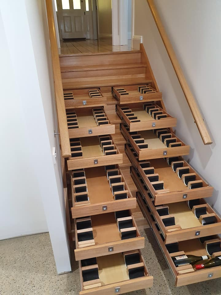 Wine Staircase Both Sides