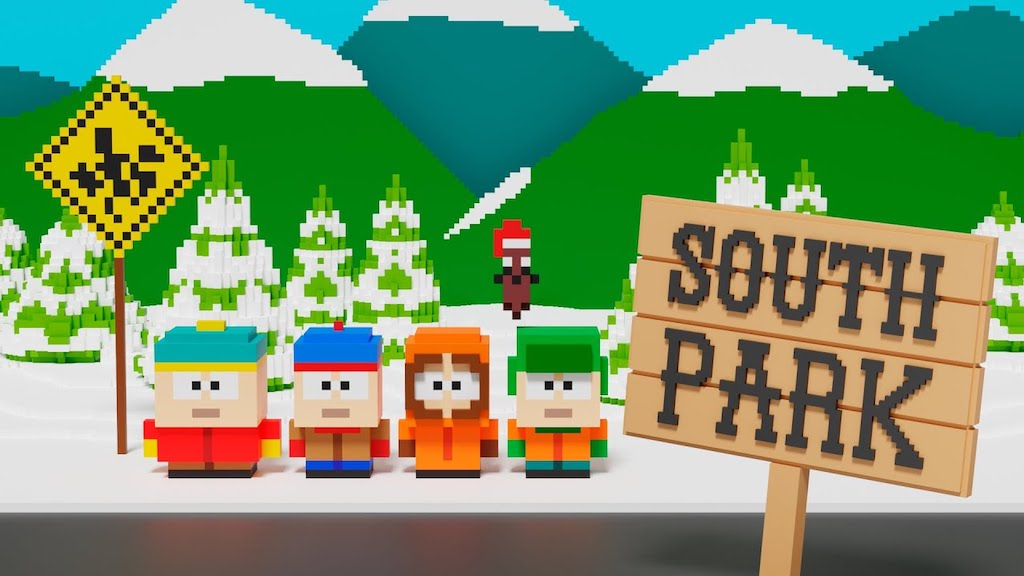 Minecraft Style Version of the 'South Park' Opening
