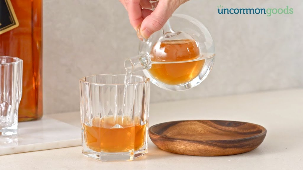 A Personal Dual Chambered Whiskey & Water Decanter