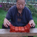 Talented Carpenter Builds a Foldable Luban Stool From a Single Piece of Wood Without Using Nails or Glue
