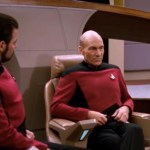 What If Captain Jean-Luc Picard's Communicator Badge Popped Off Each Time He Did His Shirt Tug