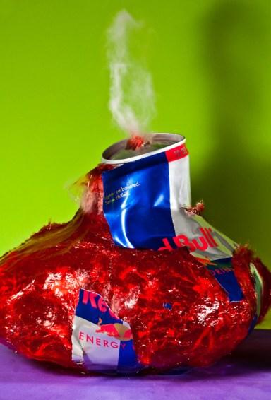 Red Bull explotando
