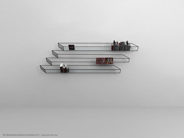 Bias Of Thoughts, An Optical Illusion Bookshelf
