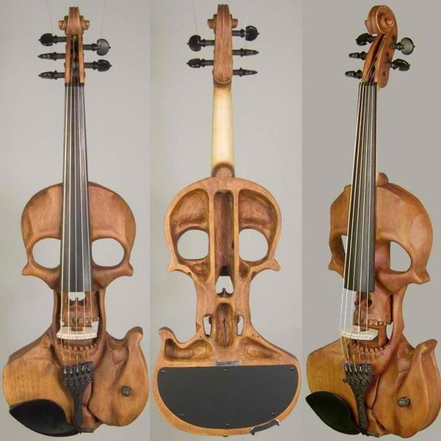 Stratton Skull Electric Violin