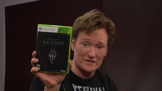 "Clueless Gamer: Conan O'Brien Reviews ""Skyrim"""