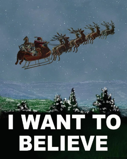 Santa - I want to believe poster.
