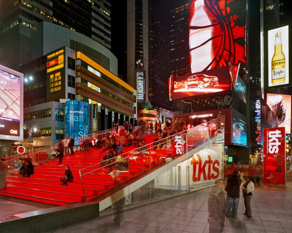 Red Stairs Times Square