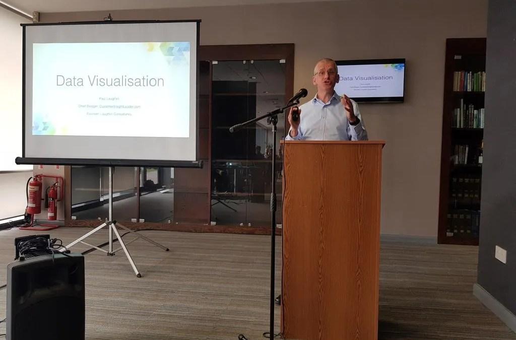 Speaking on Data Visualisation at CIM Wales Analytics Masterclass 2018
