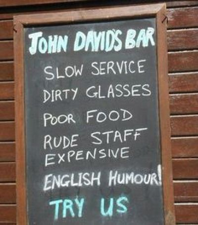 Funny Bar Sign