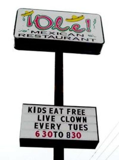 Funny Restaurant Sign for Kids
