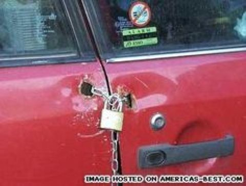 Redneck Car Door Lock