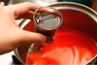 Gelatina de vino tinto