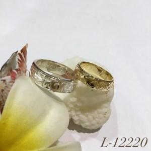 L-12220 14KYG&Silver Pair Ring