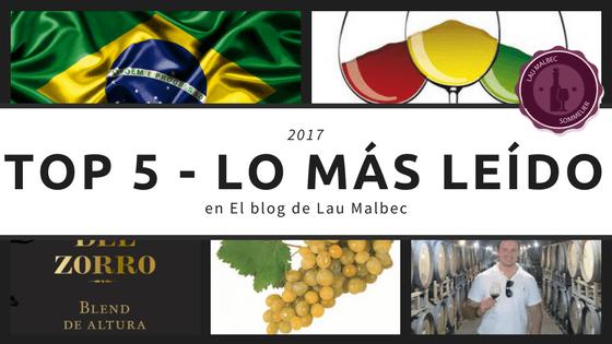 top 5 - lo mas leido en El blog de Lau Malbec