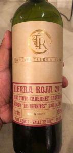 Cabernet Sauvignon Tierra Roja 2017, vino de Bolivia